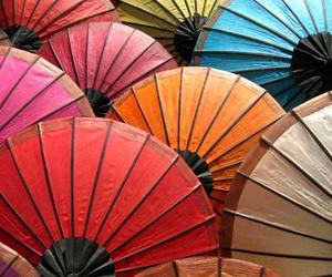colors, umbrella, and colorful image