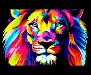 colors, lion, and animal image