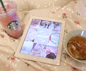 ipad, food, and starbucks image
