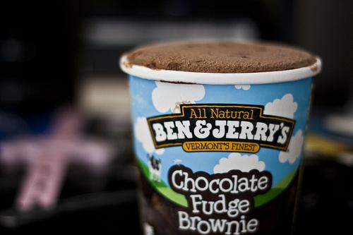 icecream, yum, and ben&jerry image