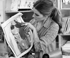 olivia palermo, newspaper, and style image