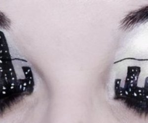 eyes, make up, and city image