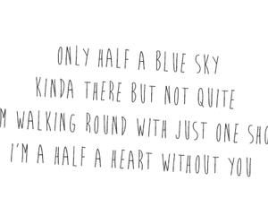 one direction, half a heart, and Lyrics image