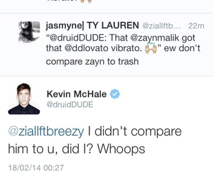 demi lovato, twitter, and kevin mchale image