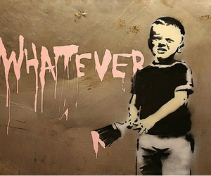 BANKSY, whatever, and boy image