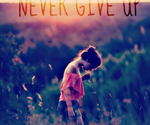 quote and never give up image
