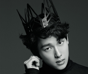 black and white, crown, and king image