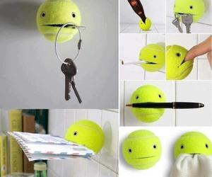 diy, ball, and tennis image