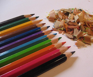 colourful, crayons, and rainbowpieces image