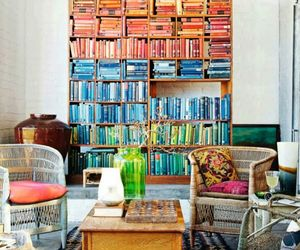 books, colour, and room image
