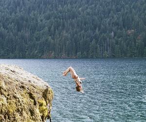jump, sea, and summer image