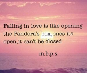 box, falling in love, and pandora image