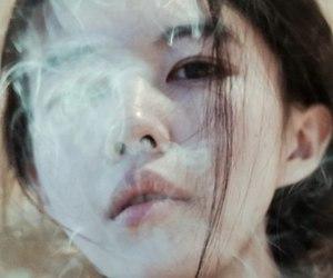 girl, asian, and smoke image