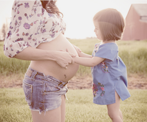 baby, pregnant, and mom image