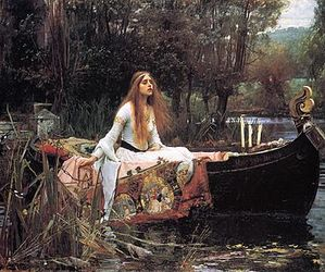 long hair, painting, and river image