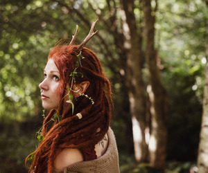 nature, dreads, and forest image