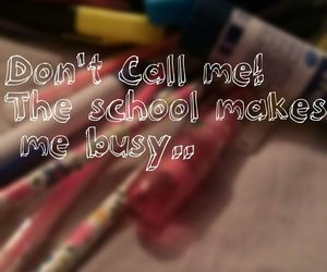 busy and school image