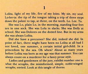 book, lolita, and text image