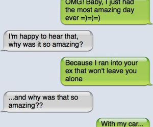 funny, ex, and car image