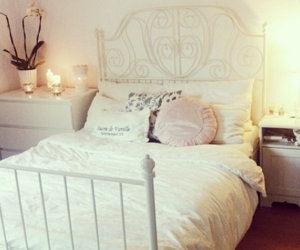 bedroom, bed, and girl image