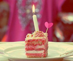 cake, pink, and birthday image