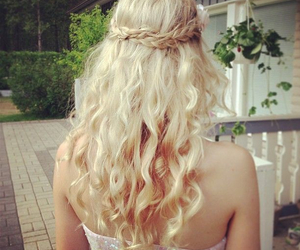 beautiful, blond, and curly image