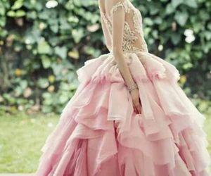 pink, dress, and princess image