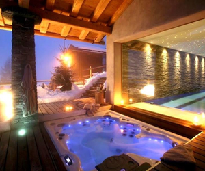 luxury, pool, and winter image