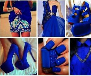 blue, shoes, and dress image