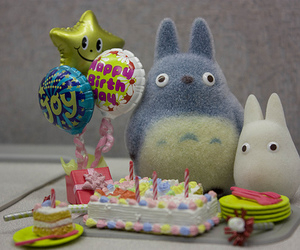 cake, totoro, and birthday image