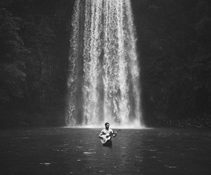 guitar, nature, and water image
