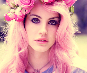 lana del rey, pink, and flowers image