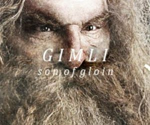 the lord of the rings, gimli, and LOTR image