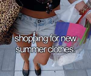 summer, shopping, and clothes image