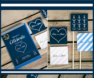 invitations, nautical, and water image