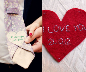 embroidered, groom, and heart image