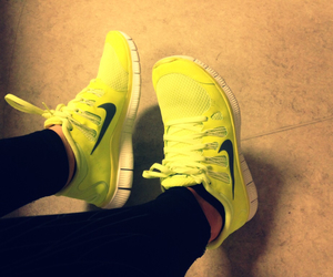 jogging, nike, and shoes image
