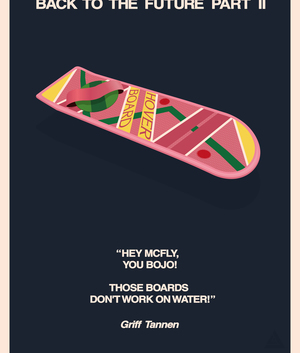 Back to the Future, graphic design, and hoverboard image