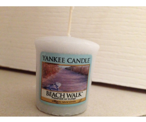 beach, candle, and yankee image