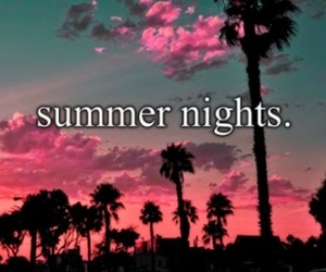 summer, night, and paradise image