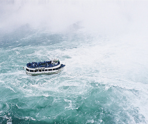 boat, sea, and water image