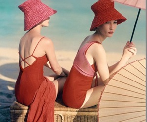 vintage, beach, and red image