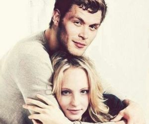 klaroline, klaus, and the vampire diaries image