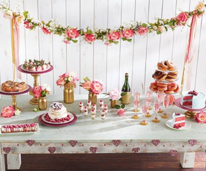 yum, dessert table, and delish image
