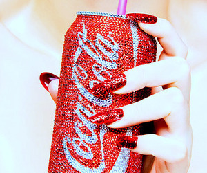 nails, red, and coca cola image
