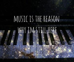 music, piano, and galaxy image