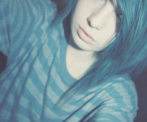 blue, emo, and hair image