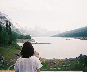 girl, indie, and lake image