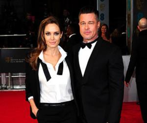 Angelina Jolie, brad pitt, and couple image