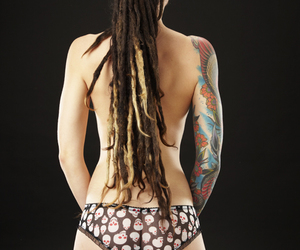 back, dreads, and pretty image